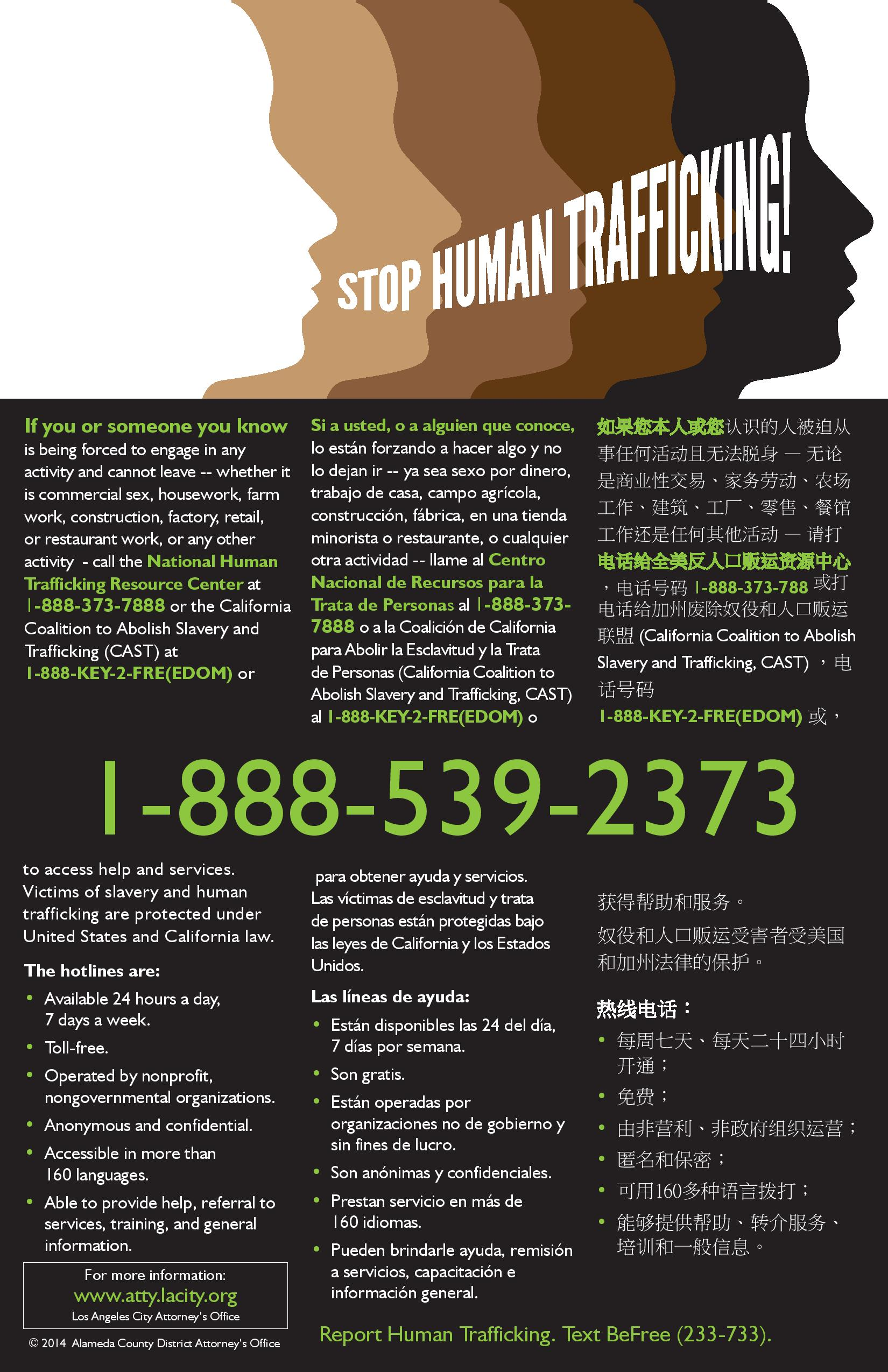 how to stop human trafficking