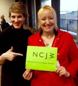 Rosalind Helfand with Kristen Strezo of NCJW Massachusetts